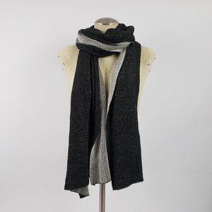 Wilfred Black & Grey Silk Blend Knit Scarf